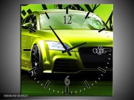 Wandklok op Glas Audi | Kleur: Groen, Zwart | F003676CGD