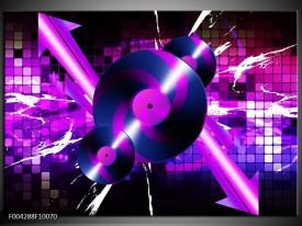 Glas schilderij Muziek | Paars, Roze, Zwart