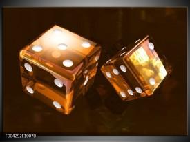 Glas schilderij Spel | Bruin, Geel, Wit