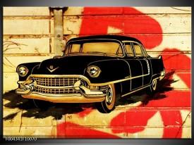 Foto canvas schilderij Oldtimer | Zwart, Rood, Geel