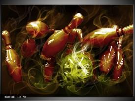 Glas schilderij Spel | Bruin, Groen