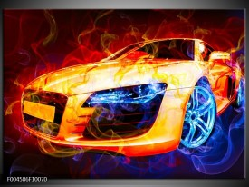 Glas schilderij Audi | Rood, Blauw, Rood