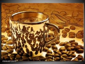 Glas schilderij Koffie   Bruin, Geel