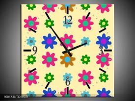 Wandklok op Glas Modern | Kleur: Roze, Blauw, Groen | F004736CGD