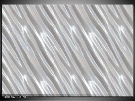 Glas schilderij Modern   Zilver, Wit