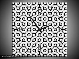 Wandklok op Glas Modern | Kleur: Grijs, Zwart, Wit | F004763CGD