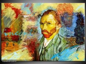 Glas schilderij Klassiek | Geel, Blauw, Bruin