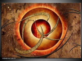 Foto canvas schilderij Modern   Bruin, Oranje