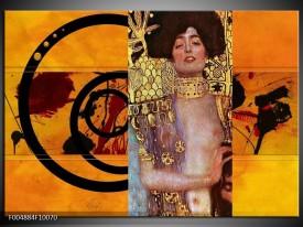 Glas schilderij Modern | Geel, Bruin, Zwart