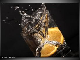 Glas schilderij Keuken | Geel, Wit, Zwart