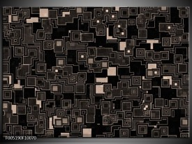 Foto canvas schilderij Modern | Zwart, Grijs