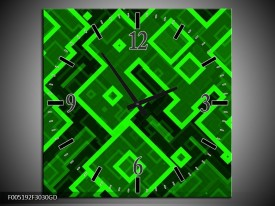 Wandklok op Glas Modern | Kleur: Groen | F005192CGD
