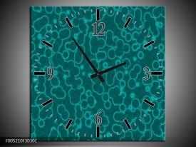 Wandklok op Canvas Modern | Kleur: Blauw | F005210C