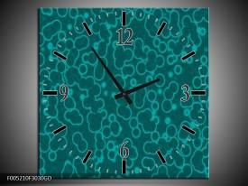Wandklok op Glas Modern | Kleur: Blauw | F005210CGD