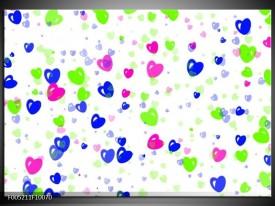 Glas schilderij Modern | Paars, Groen, Blauw