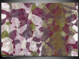 Glas schilderij Modern | Wit, Paars, Groen