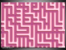 Glas schilderij Modern | Roze, Wit
