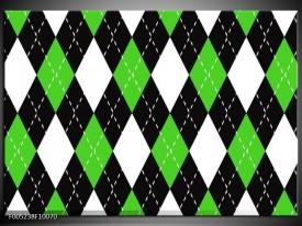 Foto canvas schilderij Modern | Groen, Wit