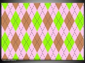 Foto canvas schilderij Modern | Groen, Bruin, Roze