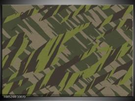 Foto canvas schilderij Modern | Groen, Grijs, Zwart