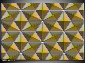Foto canvas schilderij Modern | Geel, Groen, Grijs