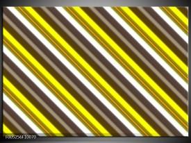 Glas schilderij Modern | Geel, Zwart, Bruin