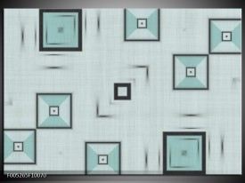 Glas schilderij Modern | Grijs, Blauw