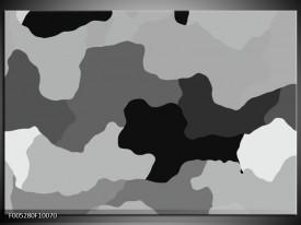 Glas schilderij Modern | Grijs, Zwart, Wit