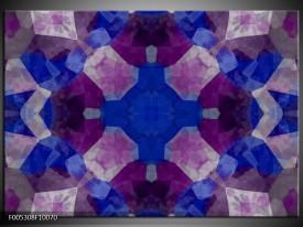 Glas schilderij Modern | Blauw, Paars, Grijs