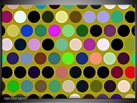 Glas schilderij Modern | Groen, Blauw, Geel