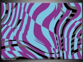 Glas schilderij Modern | Blauw, Paars, Zwart