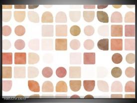 Glas schilderij Modern | Wit, Bruin, Roze
