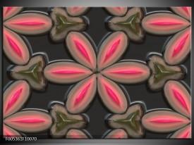 Glas schilderij Modern | Grijs, Roze, Zwart