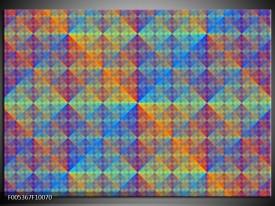 Foto canvas schilderij Modern   Blauw, Groen, Oranje