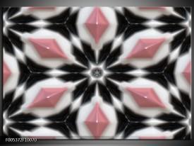 Foto canvas schilderij Modern | Roze, Zwart, Wit