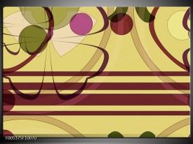 Foto canvas schilderij Modern | Bruin, Roze, Groen