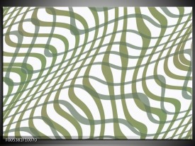Foto canvas schilderij Modern   Wit, Groen
