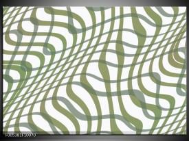 Glas schilderij Modern | Wit, Groen
