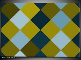 Foto canvas schilderij Modern   Blauw, Groen, Geel