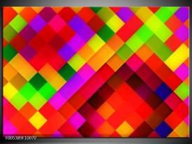 Glas schilderij Modern   Rood, Geel, Groen