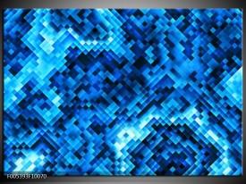 Foto canvas schilderij Modern | Blauw, Zwart