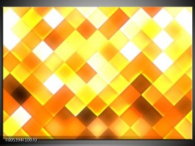 Glas schilderij Modern | Geel, Bruin, Goud