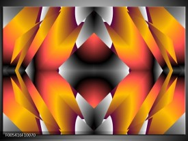 Glas schilderij Modern | Grijs, Oranje, Geel