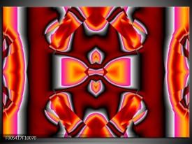 Foto canvas schilderij Modern | Rood, Grijs, Geel