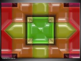Foto canvas schilderij Modern   Groen, Rood, Geel