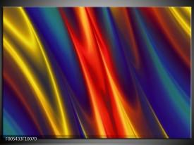Glas schilderij Modern | Blauw, Geel, Rood