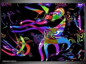 Foto canvas schilderij Abstract | Zwart, Blauw, Paars