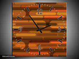 Wandklok op Canvas Abstract   Kleur: Bruin   F005445C