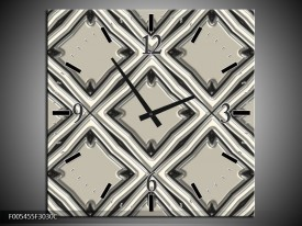 Wandklok op Canvas Abstract | Kleur: Grijs | F005455C