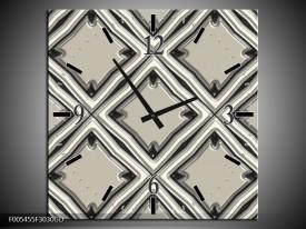 Wandklok op Glas Abstract | Kleur: Grijs | F005455CGD